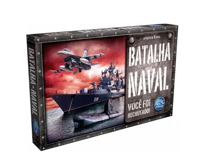 Jogo Tabuleiro Família Batalha Naval Barcos Brinquedo 8+ Nf