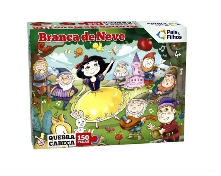 Quebra Cabeça Puzzle Branca De Neve 150 Peças Infantil