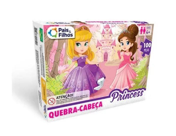Quebra Cabeça Princesas - 100 Peças - Pais E Filhos