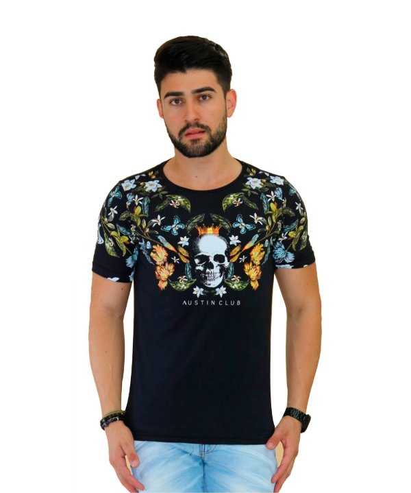 e6e5efc56a2f Camiseta Masculina Floral - Moda Praia, Vestidos e Acessórios