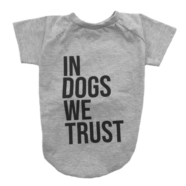Camiseta In Dogs We Trust