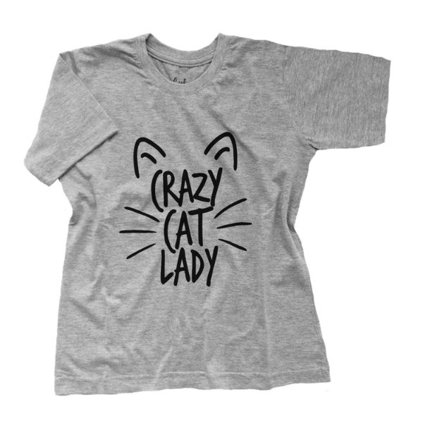 Camiseta Crazy Cat Lady - Humanos - Baby Look