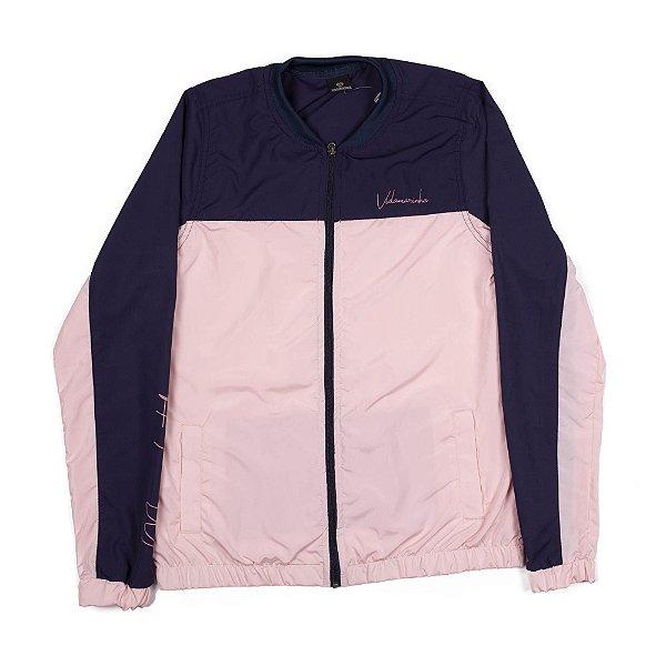 Jaqueta Quebra Vento - Azul/Rosa