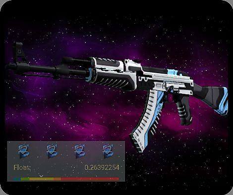 Ak-47 | Vulcan  (Field Tested) 4 ADESIVOS HOLO