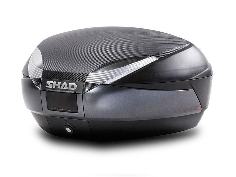 SHAD SH48 GRAFITE TOP CASE BAÚ CENTRAL 48 LITROS COM BASE E ENCOSTO DUPLO INCLUSOS