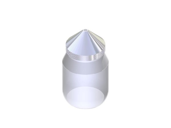 Picnometro de vidro 950ML com tampa conica metalica