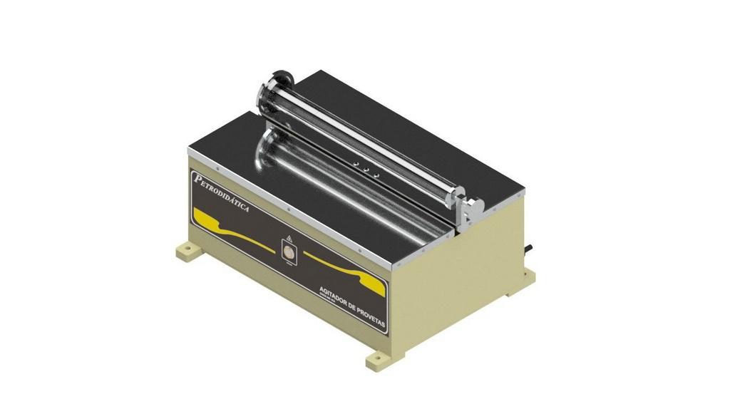 Agitador de provetas eletrico para equivalente de areia