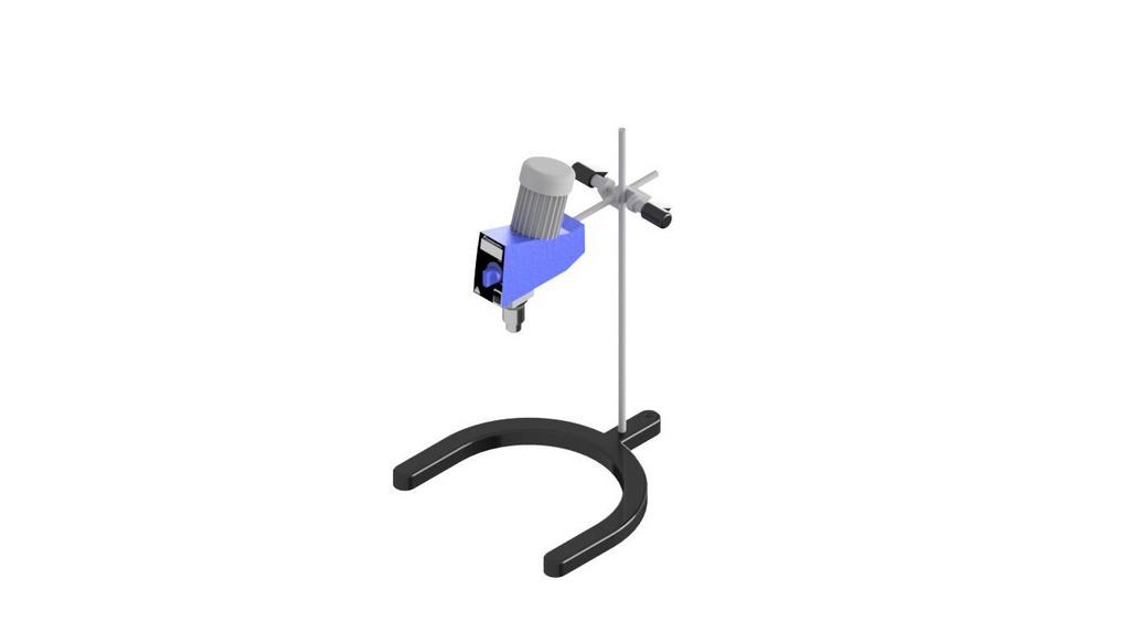 Agitador mecanico cap. 20L de agua com base pesada