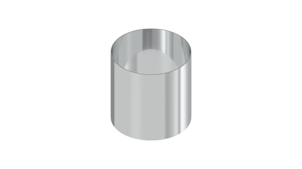 Anel biselado volumetrico 100MM³ em aço inox para solo (DIAM 60X39MM, PAREDE 1,65MM)