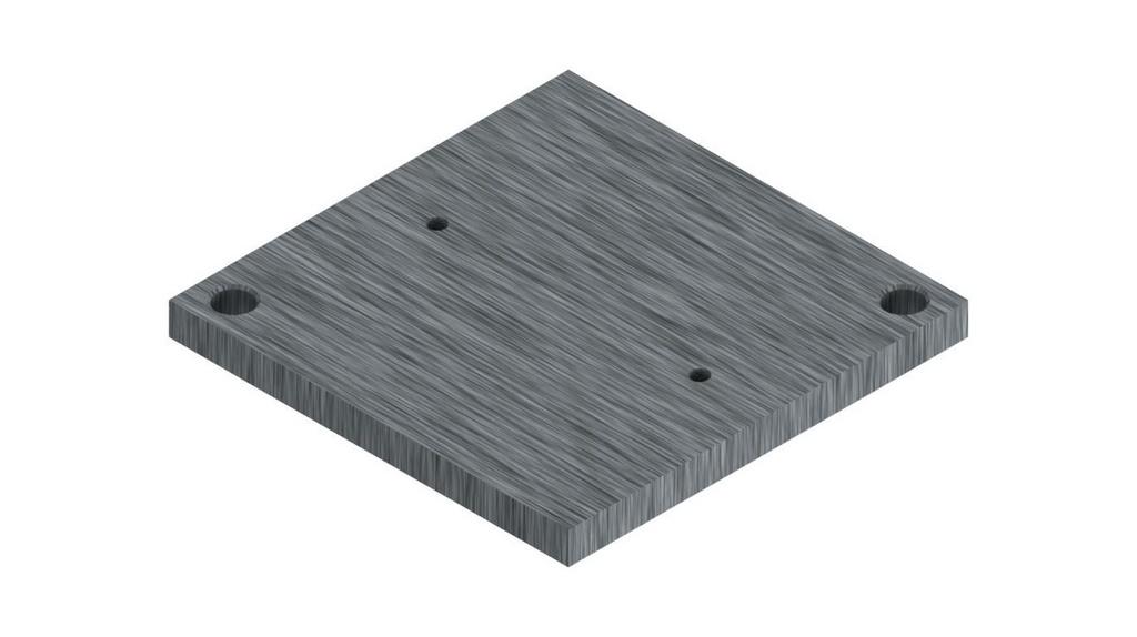 Base superior do pedestal para molde Marshall