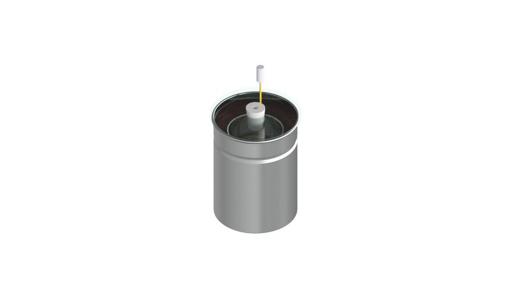 Calorimetro aluminio de agua didatico com duplo vaso e agitador 250ML