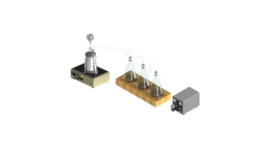 Conjunto Rice Test Com Picnometro metalico CAP. 4L