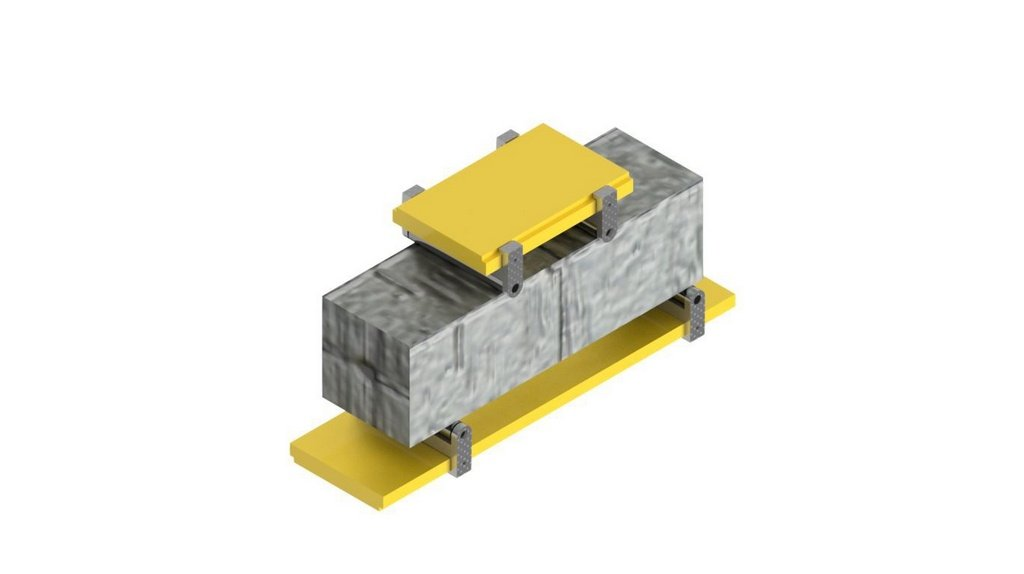 Dispositivo para tracao na flexao em corpo de prova prismatico ABNT 12142
