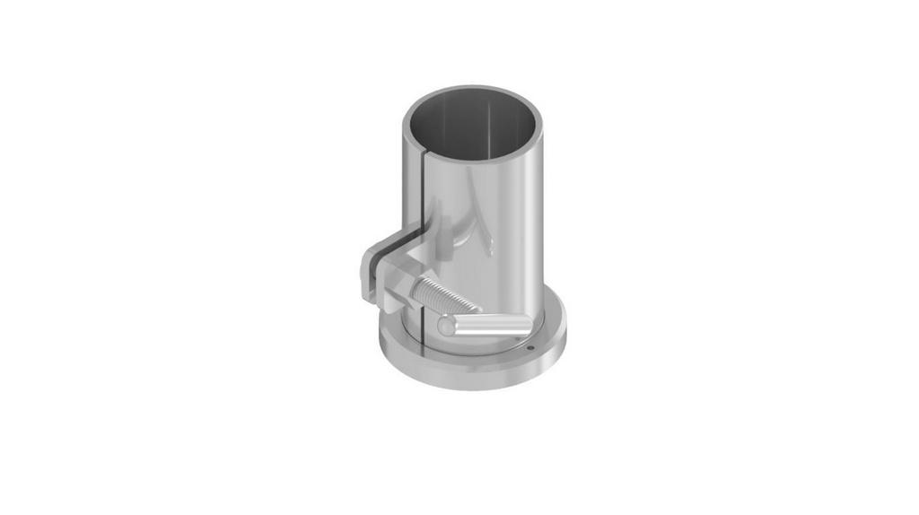 Forma cilindrica 5X10CM para cimento em aco inox