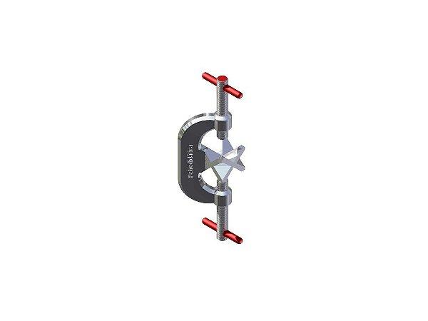 Mufa dupla em aluminio fundido (Garra para suporte universal)