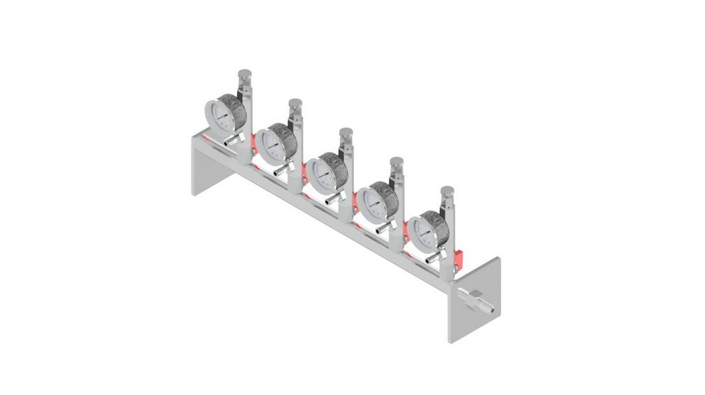 Sistema de filtracao Manifold para 5 provas com utilizacao de bomba a vacuo