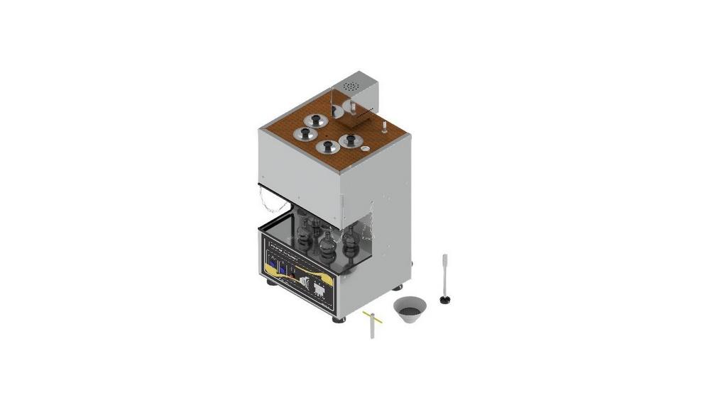 Viscosimetro Saybolt Universal para 4 provas conforme ASTM D-88 E D-102