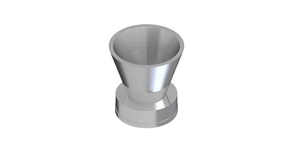Funil em aco aluminio 25MM para Millipore