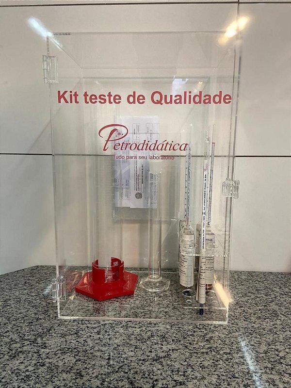 Kit de analise para combustiveis - Armario transparente