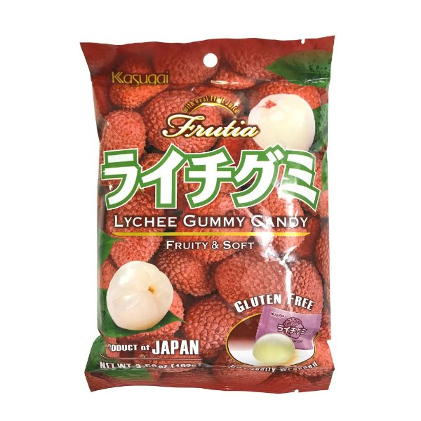 Bala Japonesa Mastigável Lichia Kasugai Gummy Candy