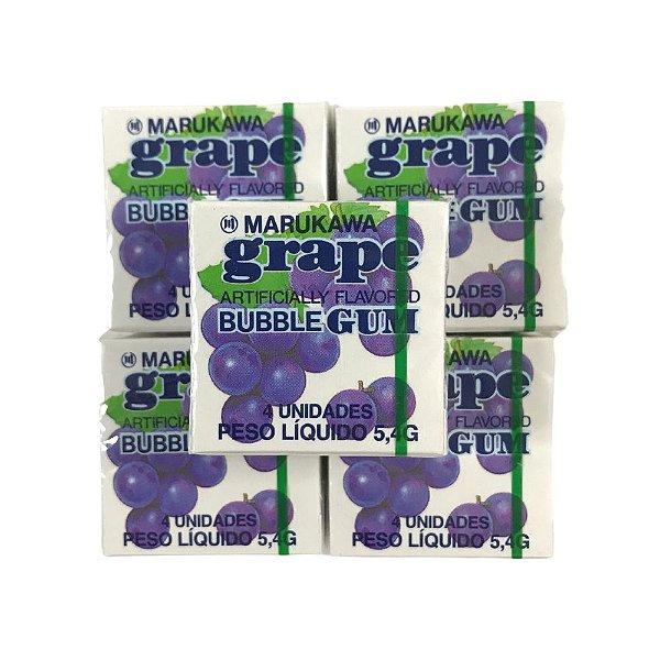 Goma de Mascar do Japão Bubble Gum Sabor Uva 5 unidades Marukawa