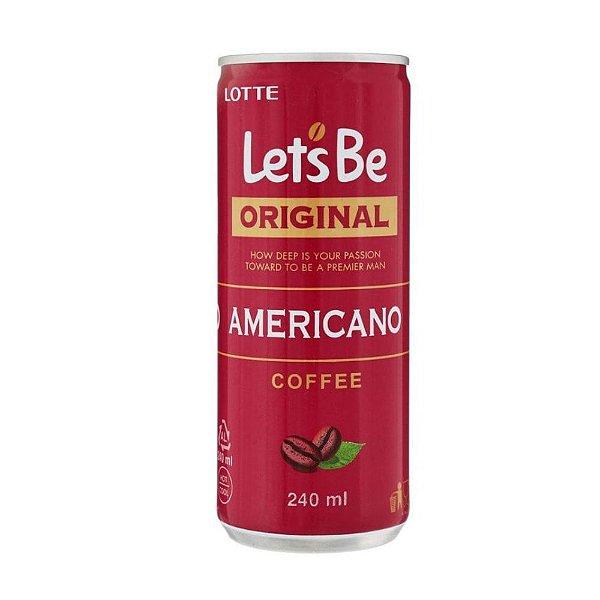 Bebida de Café Americano Original 240ml Let's Be Lotte