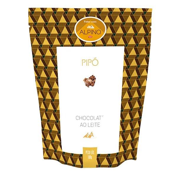 Pipoca Doce Sabor Chocolate ao Leite Alpino Pipó Gourmet