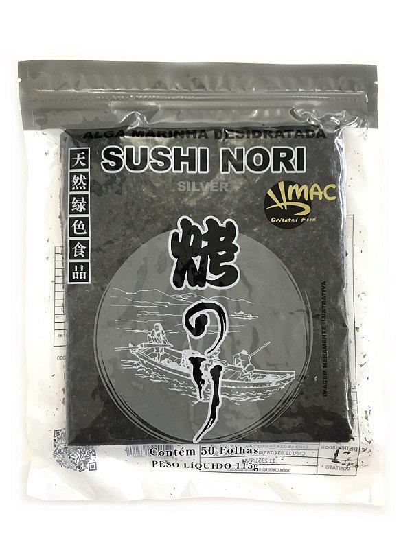 Alga para Sushi - 50 Folhas - Nori Mac Silver