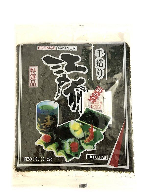 Alga para Sushi - 10 Folhas - Nori Edomae