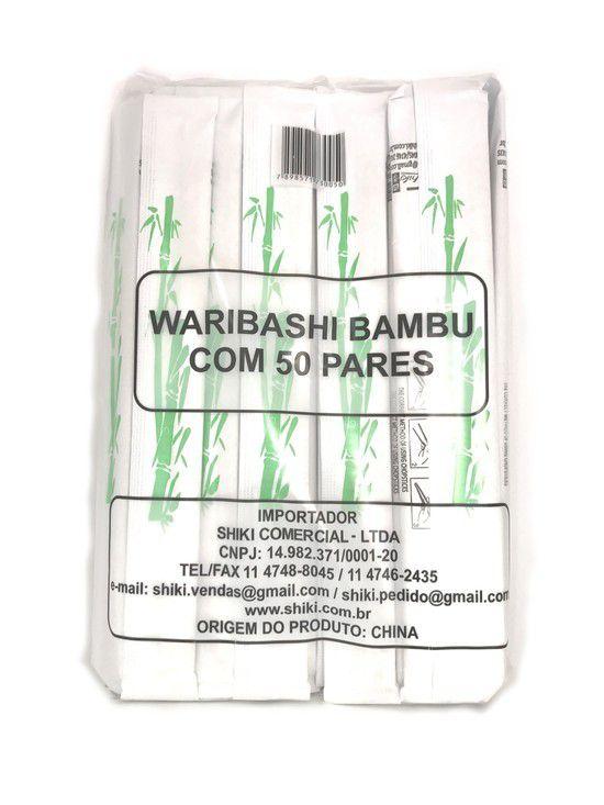 Hashi Descartável de Bambu 50 pares