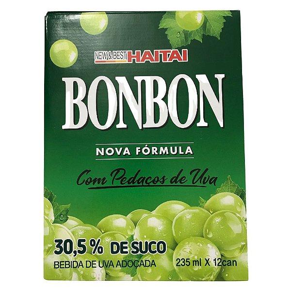 Bebida Suco de Uva Verde com Pedaços Bonbon - Caixa com 12 latas
