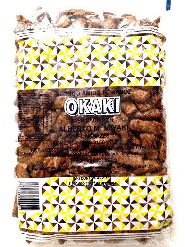 Biscoito de Arroz Okaki 200g Miyaki (Amarelo)