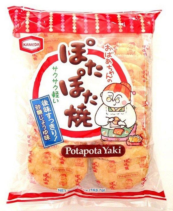 Biscoito de Arroz Sembei Potapota Yaki Kameda