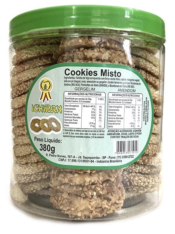 Rosquinhas Cookies Misto Amendoim e Gergelim 380g Ichiban