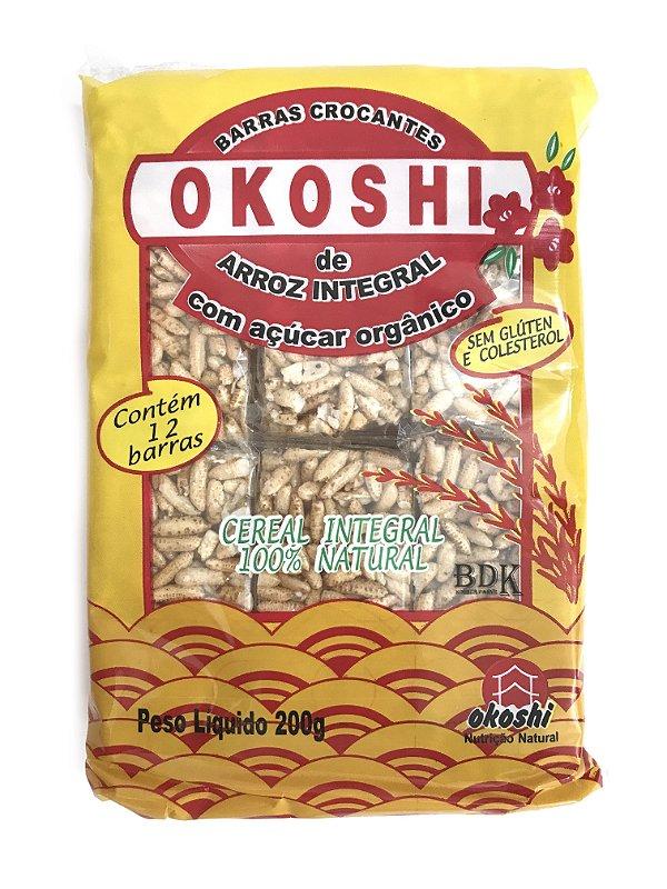 Okoshi Arroz Integral com Açúcar Orgânico 200g Hikage