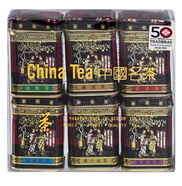 Chá Chinês com 06 sabores Mini Black