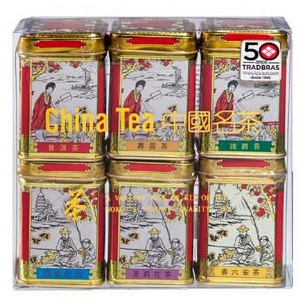 Chá Chinês com 06 sabores Mini Gold