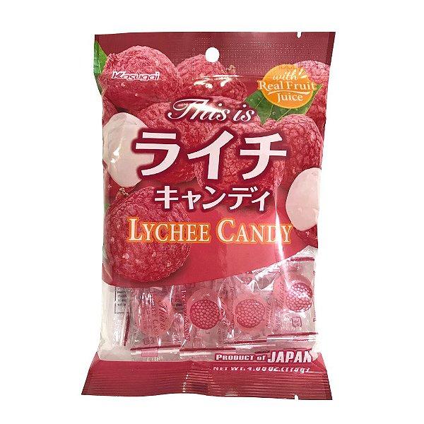 Bala Japonesa de Lichia Kasugai Lychee Candy