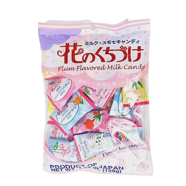 Bala Japonesa de Pêssego ao Leite Kasugai Flower Kiss Candy