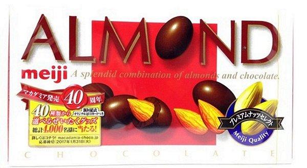 Chocolate do Japão Almond Meiji