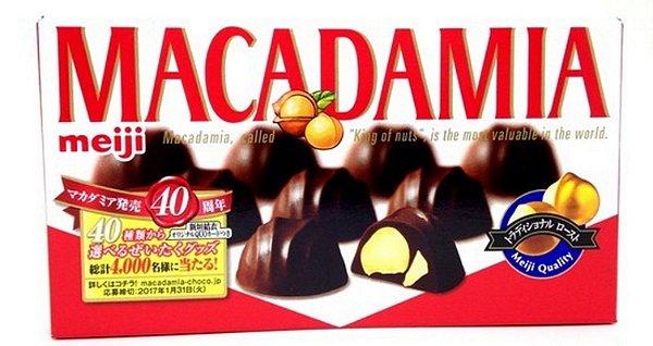 Chocolate do Japão de Macadâmia Meiji
