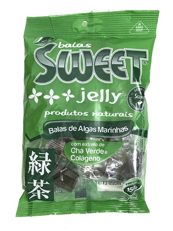 Bala de Algas Marinhas - Chá Verde e Colágeno - Sweet Jelly