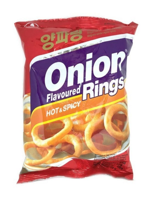 Salgadinho de Cebola Apimentado Onion Rings Hot & Spicy 40g Nongshim