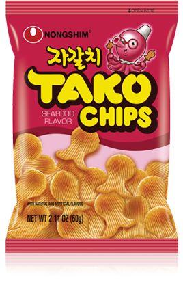 Salgadinho de Polvo Tako Chips 60g Nongshim