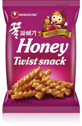 Salgadinho Palitos de Mel com Maçã Honey Twist Snack 75g Nongshim