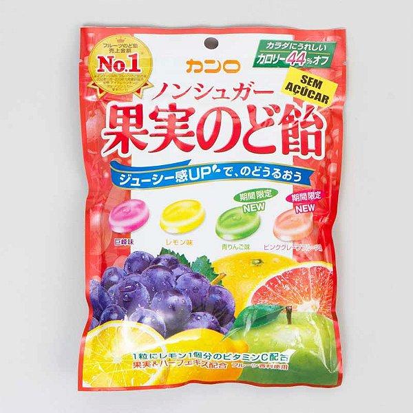 Bala Japonesa de Frutas Sem Açúcar Kanro Fruit Nodo Ame
