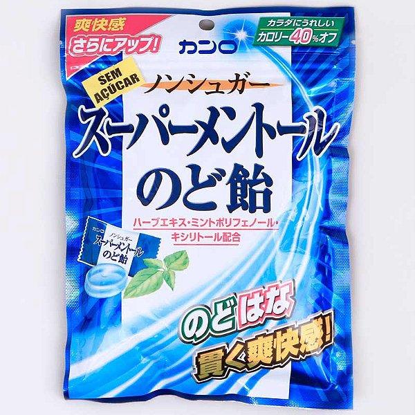 Bala Japonesa Super Mentol Sem Açúcar Kanro
