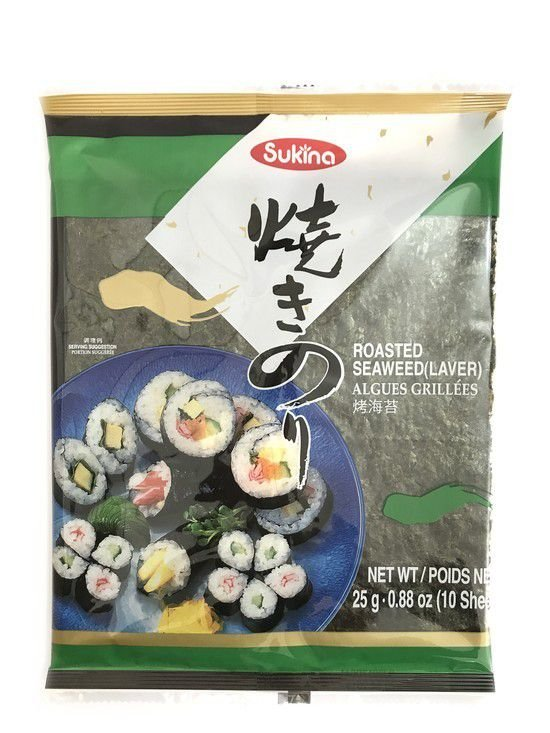 Alga para Sushi - 10 folhas - Nori Sukina