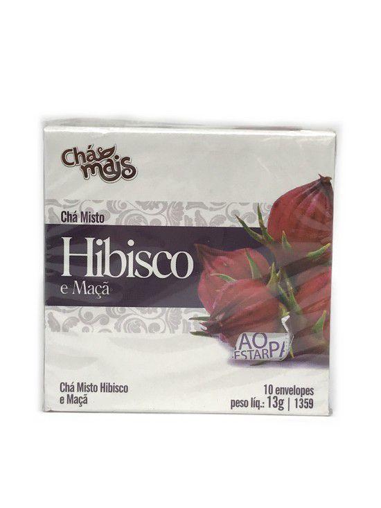 Chá Misto Hibisco e Maçã 10 sachês Chá Mais