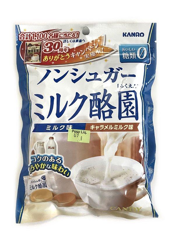 Bala Japonesa Leite e Caramelo Kanro - Sem Açúcar